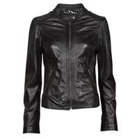 material Women Leather jackets / Imitation leather Oakwood KARINE Black