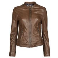 material Women Leather jackets / Imitation leather Oakwood KARINE Brown