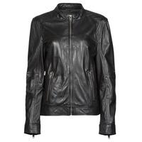 material Women Leather jackets / Imitation leather Oakwood DUBLIN Black