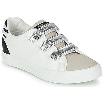 Shoes Women Low top trainers Le Temps des Cerises VIC White / Silver