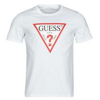 material Men short-sleeved t-shirts Guess CN SS ORIGINAL LOGO TEE White