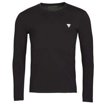 material Men Long sleeved shirts Guess CN LS CORE TEE Black