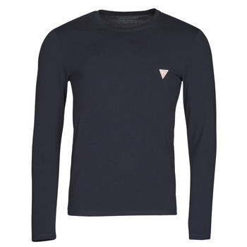 material Men Long sleeved shirts Guess CN LS CORE TEE Marine