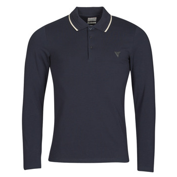 material Men long-sleeved polo shirts Guess OLIVER LS POLO Marine
