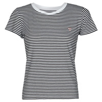 material Women short-sleeved t-shirts Guess ES SS GUESS LOGO BABY TEE Black / White