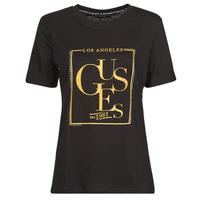 material Women short-sleeved t-shirts Guess SS CN SIMONNE TEE Black