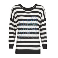 material Women jumpers Guess CLAUDINE BAT SLEEVE SWTR Black / White
