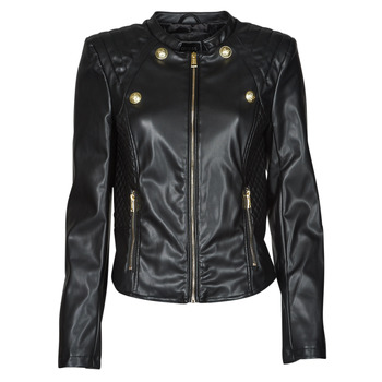 material Women Leather jackets / Imitation leather Guess WILLA JACKET Black