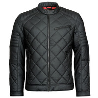 material Men Leather jackets / Imitation leather Guess STRETCH PU QUILTED JKT Black