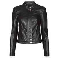 material Women Leather jackets / Imitation leather Guess FIAMMETTA JACKET Black