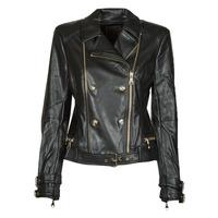 material Women Leather jackets / Imitation leather Guess OLIVIA MOTO JACKEY Black