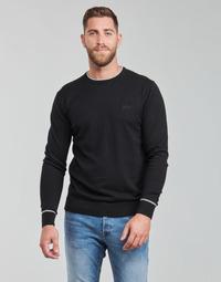 material Men jumpers Guess KEVIN LS CN SLIM FIT SWTR Black