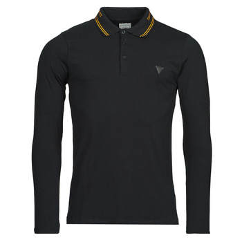 material Men long-sleeved polo shirts Guess OLIVER LS POLO Black