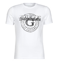 material Men short-sleeved t-shirts Guess DOUBLE G CN SS TEE White