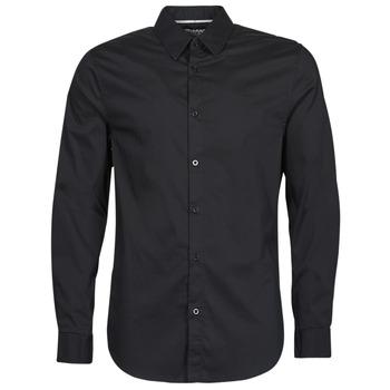 material Men long-sleeved shirts Guess LS SUNSET SHIRT Black