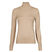 material Women jumpers Guess GOLDIE TN LS SWTR Camel