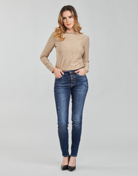 material Women Skinny jeans Guess 1982 EXPOSED BUTTON Blue / Dark