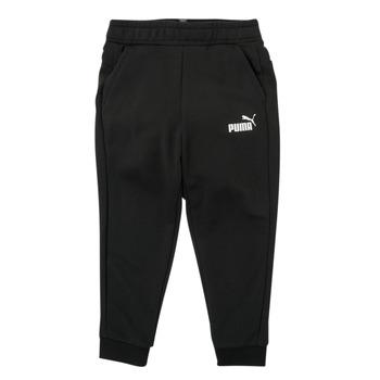 material Boy Tracksuit bottoms Puma ESSENTIAL SLIM PANT Black