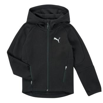 material Boy sweaters Puma EVOSTRIPE FZ HOODED JACKET Black