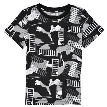 material Boy short-sleeved t-shirts Puma ALPHA AOP TEE Black