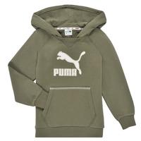 material Boy sweaters Puma T4C HOODIE Kaki