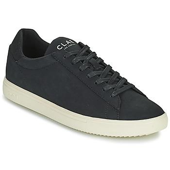 Shoes Men Low top trainers Clae BRADLEY VEGAN Black / White
