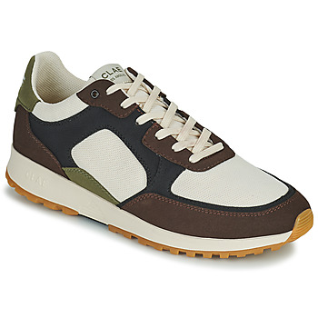 Shoes Men Low top trainers Clae JOSHUA Brown / White / Green