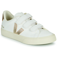 Shoes Women Low top trainers Veja RECIFE LOGO White / Gold