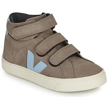 Shoes Children High top trainers Veja SMALL ESPLAR MID Grey / Blue