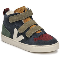Shoes Children High top trainers Veja SMALL V-10 MID Blue / Green / Red