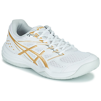 Shoes Women Indoor sports trainers Asics UPCOURT 4 White / Gold
