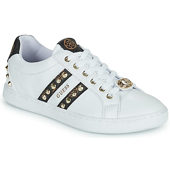 Shoes Women Low top trainers Guess RASSTA White / Brown