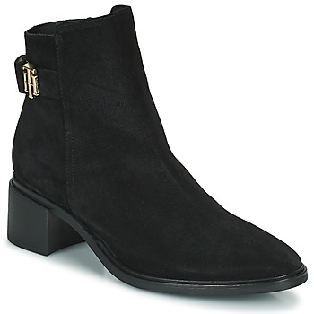 Shoes Women Mid boots Tommy Hilfiger HARDWARE TH MID HEEL BOOT Black