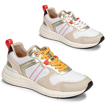 Shoes Women Low top trainers Tommy Hilfiger METALLIC CASUAL RETRO RUNNER White
