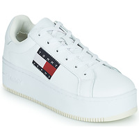 Shoes Women Low top trainers Tommy Jeans FLATFORM FLAG BRANDING SNEAKER White
