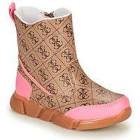 Shoes Girl Wellington boots Guess LITTLE SARA Pink / Beige