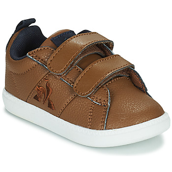 Shoes Children Low top trainers Le Coq Sportif COURTCLASSIC INF WORKWEAR Brown