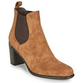 Shoes Women Boots Adige FANY V11 VELOURS HAVANE Brown