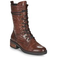 Shoes Women Mid boots Caprice 25202-351 Cognac