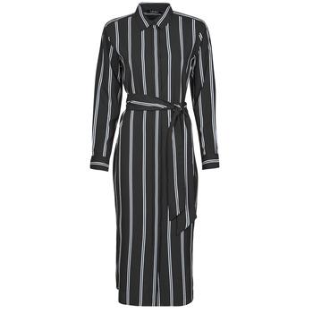material Women Long Dresses Lauren Ralph Lauren RYNETTA-LONG SLEEVE-CASUAL DRESS Black