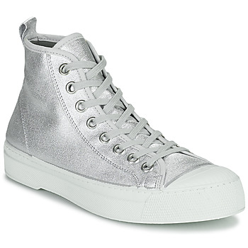 Shoes Women Low top trainers Bensimon STELLA B79 SHINY CANVAS Silver