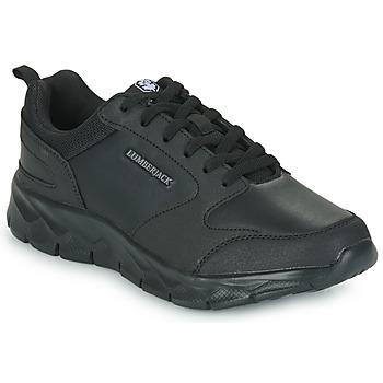 Shoes Men Low top trainers Lumberjack RAM SNEAKER Black