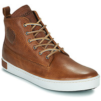 Shoes Men High top trainers Blackstone AM02-CUOIO Brown