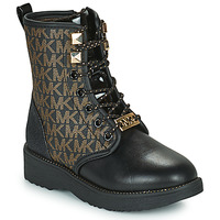 Shoes Girl Mid boots MICHAEL Michael Kors HASKELL Black / Gold