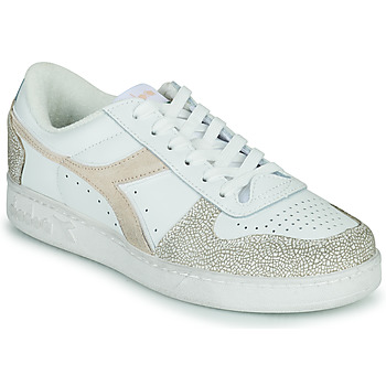 Shoes Women Low top trainers Diadora MAGIC BASKET LOW ICONA WN White / Pink