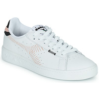 Shoes Women Low top trainers Diadora GAME L LOW ZIG ZAG WN White / Pink