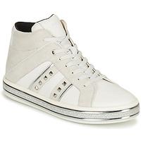 Shoes Women Mid boots Geox LEELU White / Grey