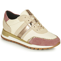 Shoes Women Low top trainers Geox TABELYA White / Pink / Gold