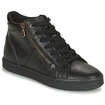Shoes Women High top trainers Geox BLOMIEE Black