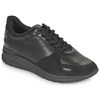 Shoes Women Low top trainers Geox AIRELL Black